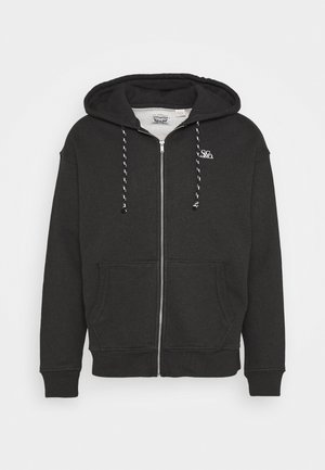 PREMIUM HEAVYWEIGHT ZIP - Huvtröja med dragkedja - black bird heather