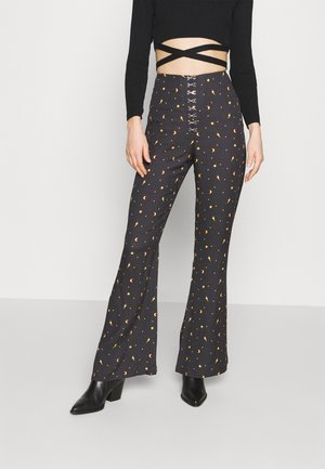 MYSTICAL TROUSER HOOK & EYE DETAILING - Trousers - black