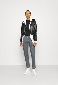 Calvin Klein Jeans - BURN OUT ZEBRA LOGO - Print T-shirt - black - 1