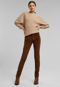Esprit - FASHION  - Trousers - brown - 4