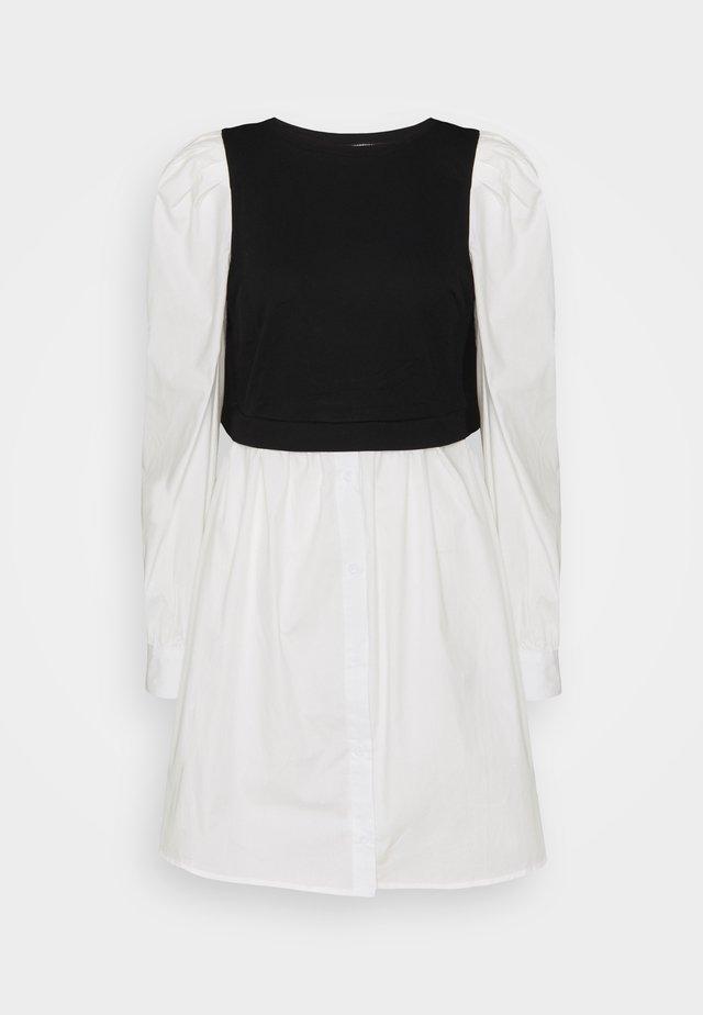 TALL PUFF SWEATER DRESS - Day dress - black