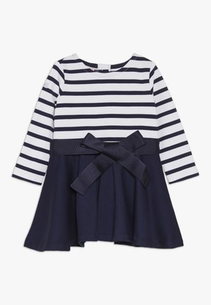 PONTE STRIPE - Robe en jersey - french navy/white