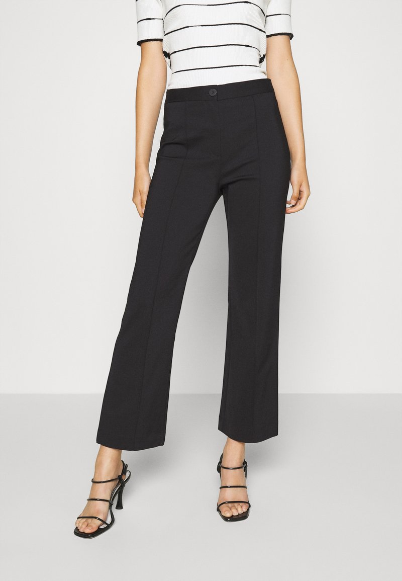 DESIGNERS REMIX - SANSAH FLARED - Trousers - black