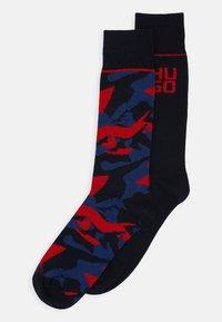 HUGO - CAMO ALLOVER 2 PACK - Socks - dark blue - 0