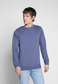 Urban Classics - BASIC CREW - Sweatshirt - vintageblue - 0