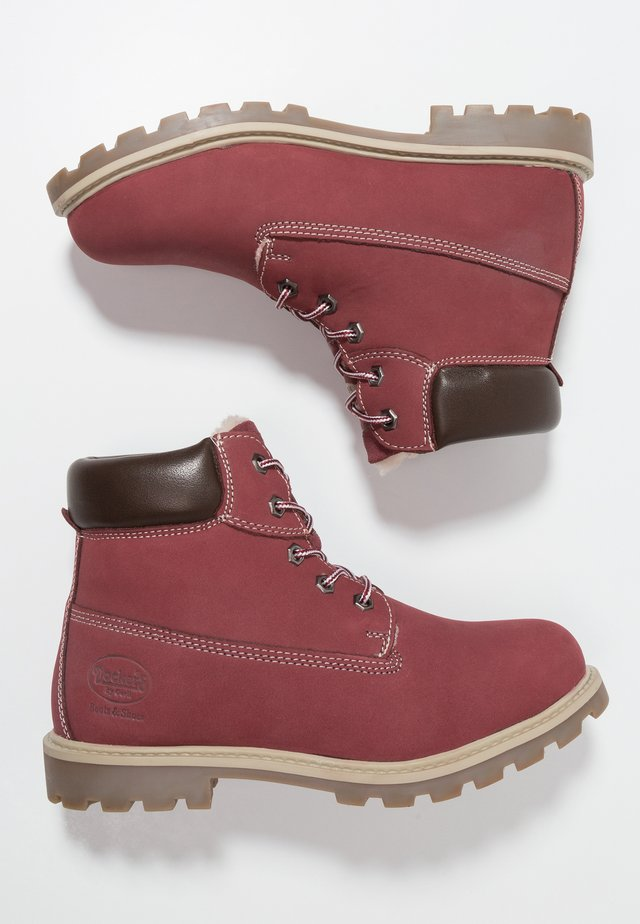 Lace-up ankle boots - bordeaux