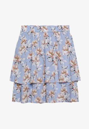 FLOWY SKIRT - Mini skirt - light blue