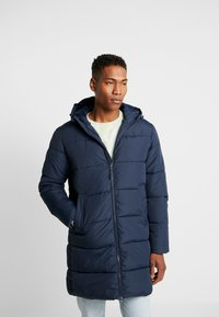 Jack & Jones - JORKNIGHT LONG PUFFER JACKET - Płaszcz zimowy - navy blazer - 0