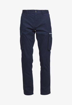 DOBBY PANT - Cargo trousers - black iris