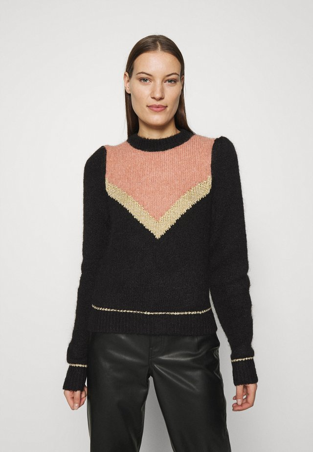 HAIRY GLITTER JUMPER - Jumper - black