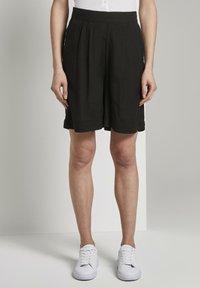 TOM TAILOR - Shorts - deep black - 0