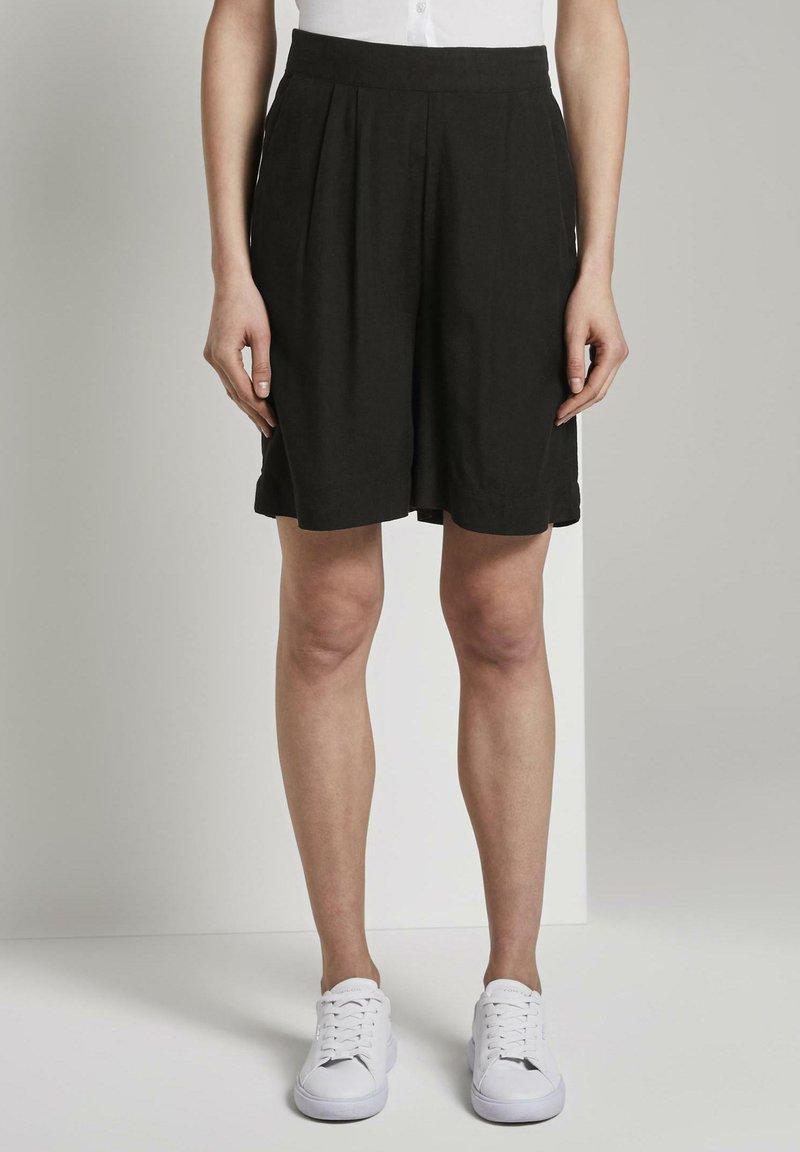 TOM TAILOR - Shorts - deep black