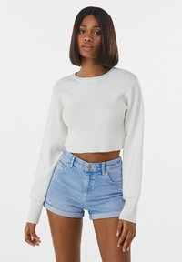 Bershka - Denim shorts - blue - 3