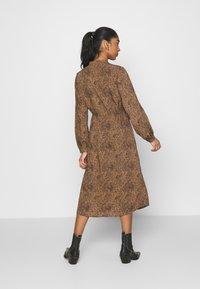 Vila - VIKOLINA TIE STRING DRESS - Day dress - tobacco brown - 2