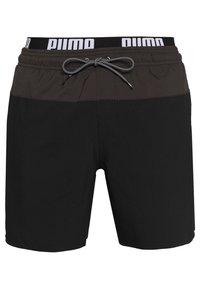 Puma - SWIM MEN LOGO MEDIUM LENGTH - Swimming shorts - black/grey - 0