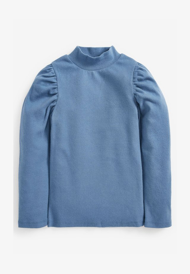 TURTLE NECK PUFF SLEEVE  - Long sleeved top - blue