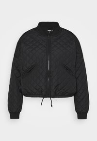 Missguided Plus - DIAMOND QUILTED BOMBER - Bomber Jacket - black - 0
