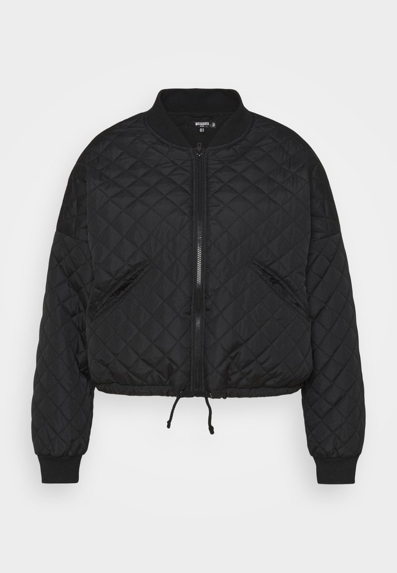 Missguided Plus - DIAMOND QUILTED BOMBER - Bomber Jacket - black