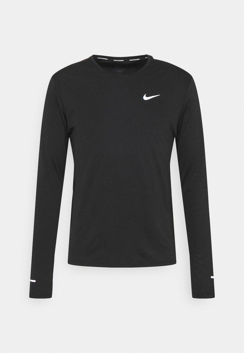 Nike Performance - MILER - Camiseta de manga larga - black/silver