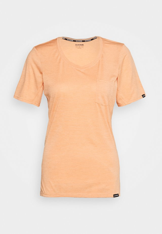 CADENCE - Camiseta estampada - papaya