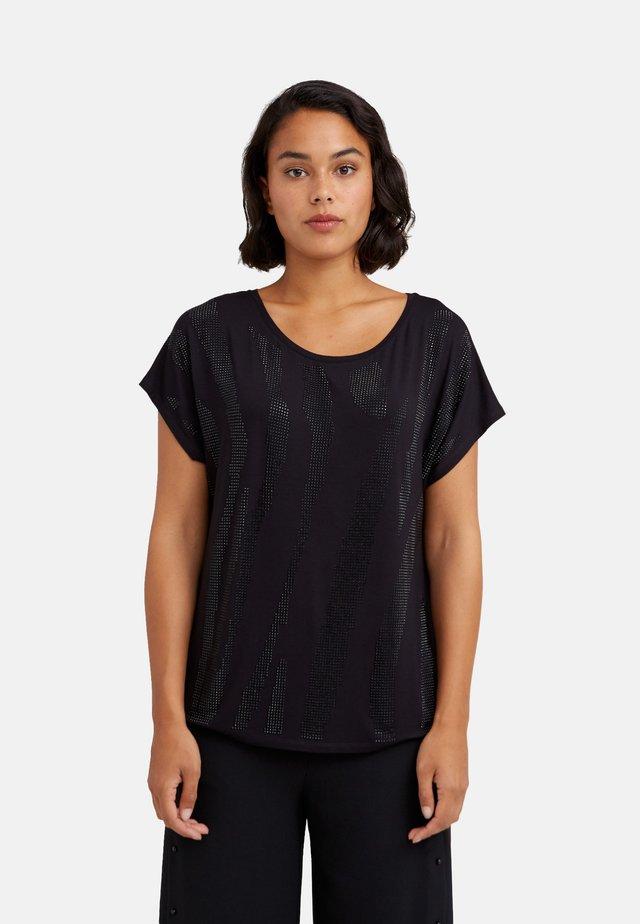 MIT APPLIKATIONEN - T-shirt con stampa - nero