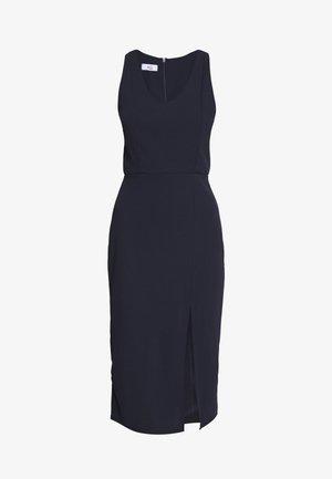 ROUND NECK PLAIN DRESS - Shift dress - navy