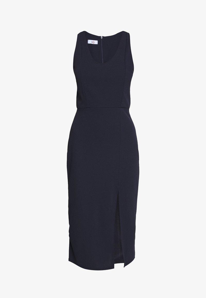 WAL G. ROUND NECK PLAIN DRESS - Etuikleid - navy/blau KJxwup