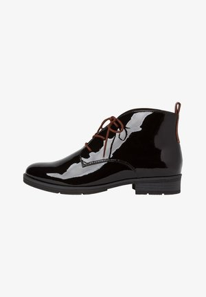 STIEFELETTE - Lace-up ankle boots - black patent