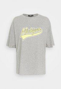 Missguided Petite - MICHIGAN DROP SHOULDER - Print T-shirt - grey marl - 5