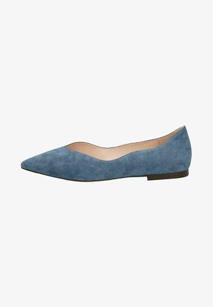 Ballet pumps - blue suede