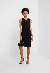 DKNY - SHEATH WITH RUCHING - Shift dress - black - 1