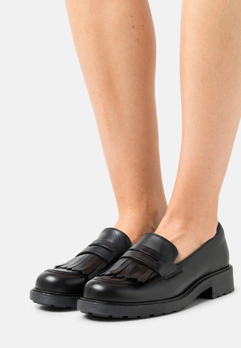 Clarks - ORINOCO LOAFER - Slip-ons - black shine