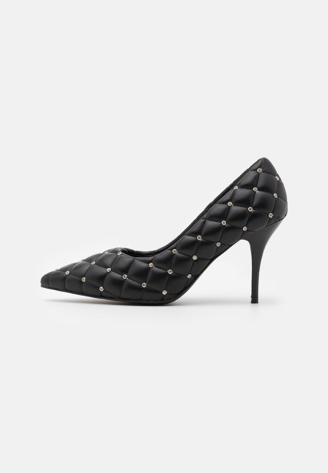 POINTY QUILTED - Decolleté - black