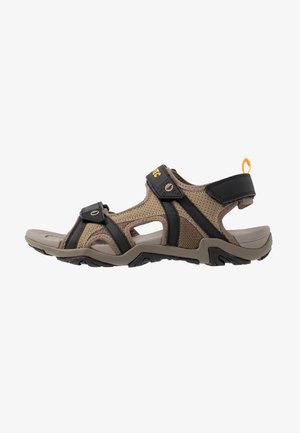 CRATER - Walking sandals - dark taupe/light taupe