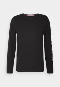 Tommy Hilfiger - LOGO LONG SLEEVE TEE - Long sleeved top - black - 0