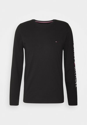 LOGO LONG SLEEVE TEE - Langærmede T-shirts - black