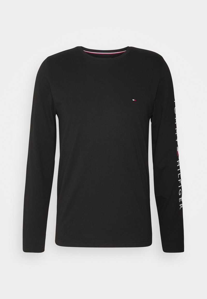 Tommy Hilfiger - LOGO LONG SLEEVE TEE - Long sleeved top - black