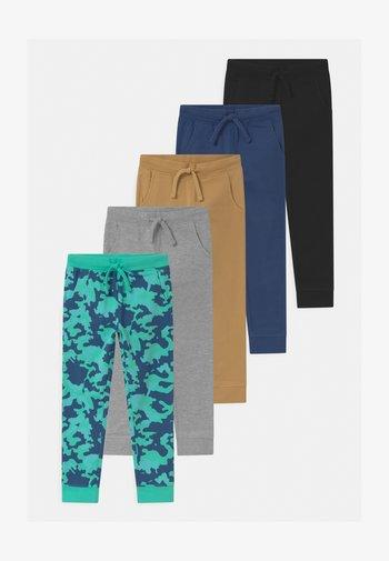5 PACK  - Pantalones deportivos - grey/tan/dark blue