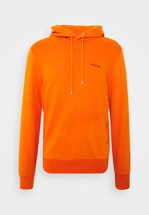 LOGO EMBROIDERY HOODIE - Hoodie - orange