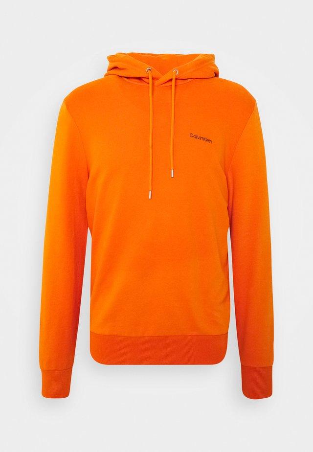 LOGO EMBROIDERY HOODIE - Hoodie - orange