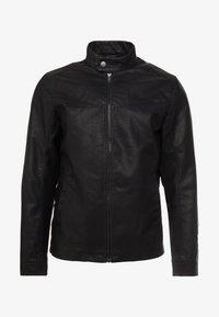 TOM TAILOR DENIM - BIKER - Faux leather jacket - black - 4