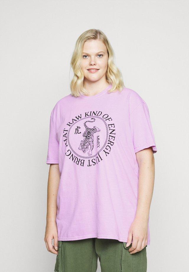 RAW ENERGY GRAPHIC - T-shirt print - lilac