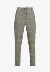 ONLPOPTRASH EASY SAVIL CHECK PANT - Trousers - black/merlot/adobe