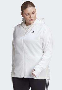 adidas Performance - AEROREADY KNIT JACKET (PLUS SIZE) - Chaqueta de entrenamiento - white - 0