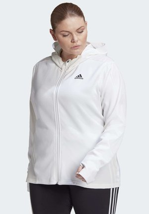 AEROREADY KNIT JACKET (PLUS SIZE) - Treningsjakke - white