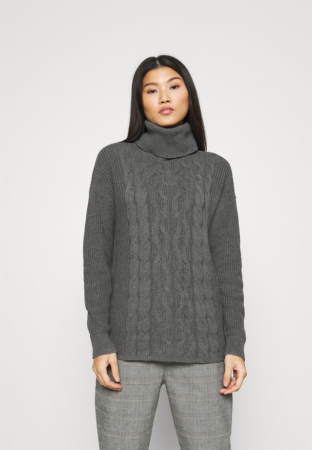 CABLE  - Sweter - charcoal grey