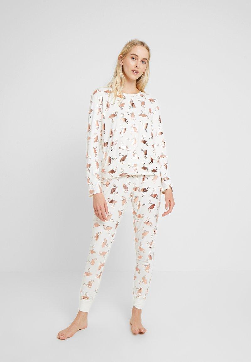 Chelsea Peers - FLAMINGOS - Pijama - white/rose gold