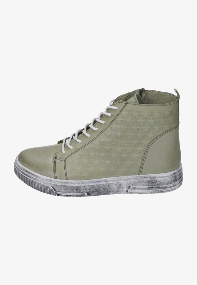 High-top trainers - light green