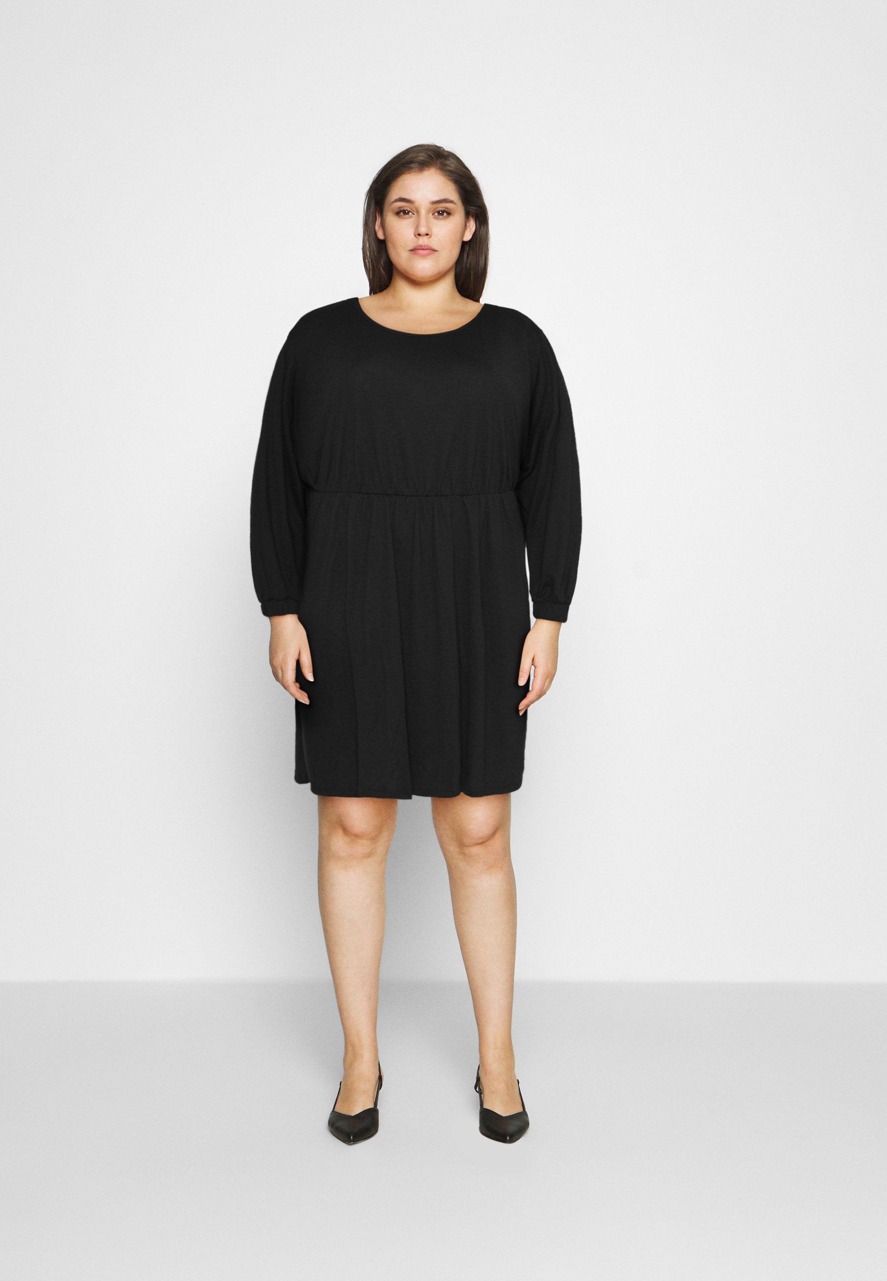 Women BOAT NECK BALLOON SLEEVE SKATER DRESS - Jersey dress