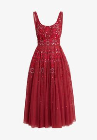 Needle & Thread - SNOWFLAKE PROM DRESS - Koktejlové šaty/ šaty na párty - cherry red - 5